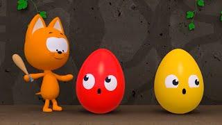 Опасное приключение - Котёнок Котэ - Мультик прохождение игры для детей малышей