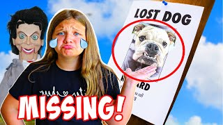 SLAPPY VENDING MACHINE PART 2! My Dog is Missing! Aubrey & Caleb Play a Game with Slappy