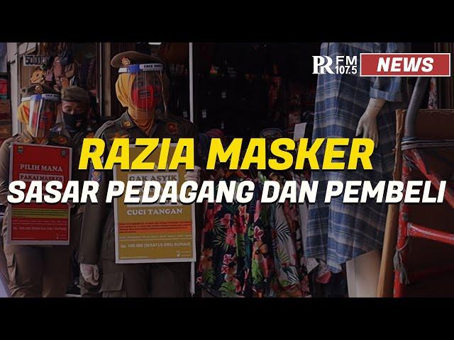 Razia Masker Pasar Baru Kota Bandung, Satpol PP Beri Sanksi 19 orang Pelanggar