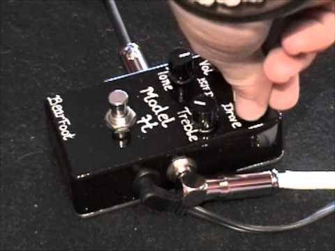 bearfoot fx model h overdrive guitar effects pedal demo with gibson sg youtube