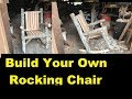 From Tree To Log Rocking Chair, How To Build It Yourself!