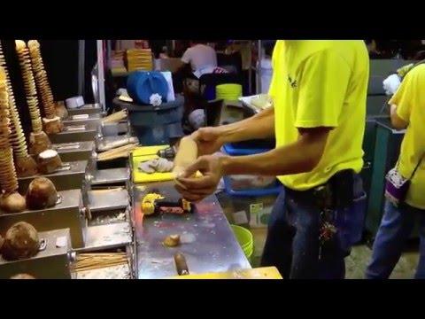 happy twist香芋脆脆crunchy taro crispy potato Tornado Fries the Original spiral cut potato on a stick