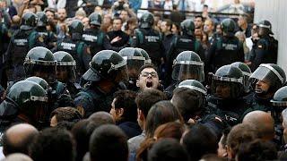 Gummigeschosse und Knüppel: Gewalt auf Straßen Kataloniens