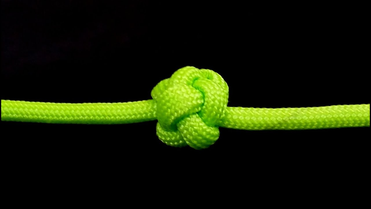 How to make celtic button knot youtube for Easy paracord lanyard