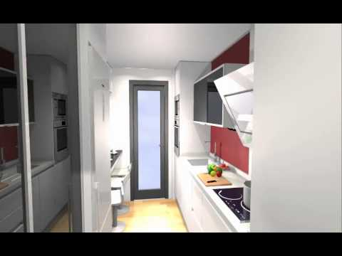 Cocina joven peque a muy aprovechada hasta con despensero - Cocinas alargadas y estrechas fotos ...