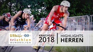 1. Bitburger 0,0% Triathlon-Bundesliga - Kraichgau 2018 - Highlights Männer