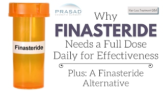 Effectiveness of Half a Dose of Finasteride to Treat Hair Loss, and a Finasteride Alternative