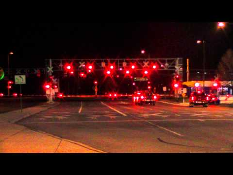 The Biggest Railroad crossing ever.  (Night time)  New Camera!