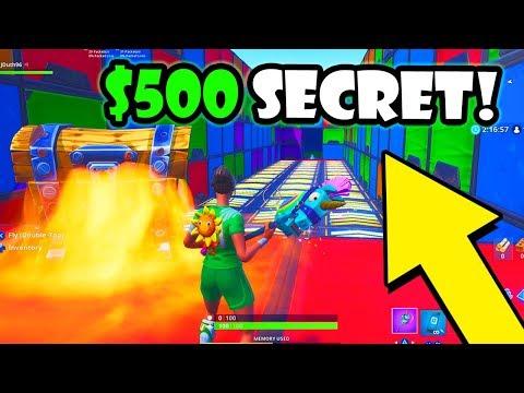 I Made A $500 SECRET Fortnite Creative Map