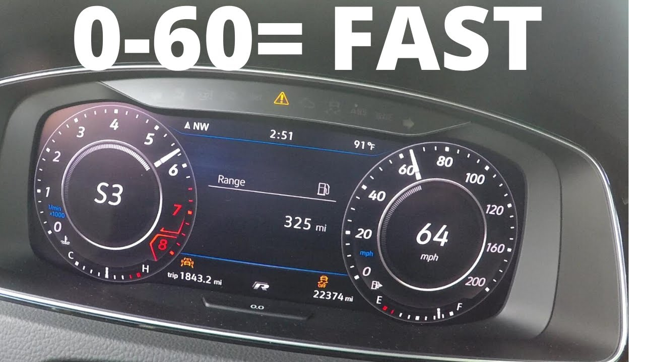 How Fast Is A Apr Stage 2 Mk7 5 Golf R 0 60 Tests Youtube