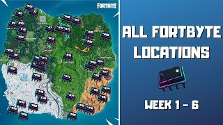 All Fortbyte Locations (week 1-6)! Every Hidden Fortbyte in Fortnite! - Fortbyte Challenges Season 9