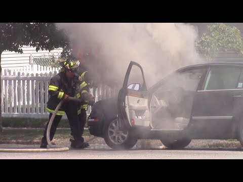 Belleville Fire Department Working Car Fire Joralemon Ave 8-1-17