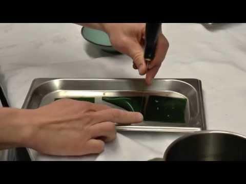 Michaël Vrijmoed prepares a signature dish at his restaurant in Gent, Belgium