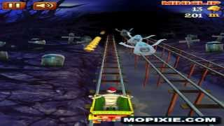 Play Free Online Rail Rush Worlds Games - Rail Rush Horror Land