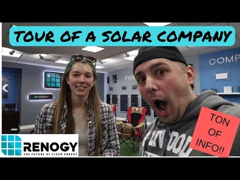 Detailed Tour of Renogy Solar Company! How much Power do I Need?
