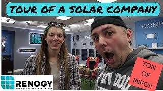 Where do I start with Solar Power? Tour of Renogy's show room with Sales/Tech