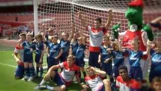 Junior Gunners take on Arsenal first team
