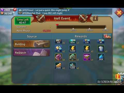 Lords Mobile - Guild Fest - Finally 2000 Points!