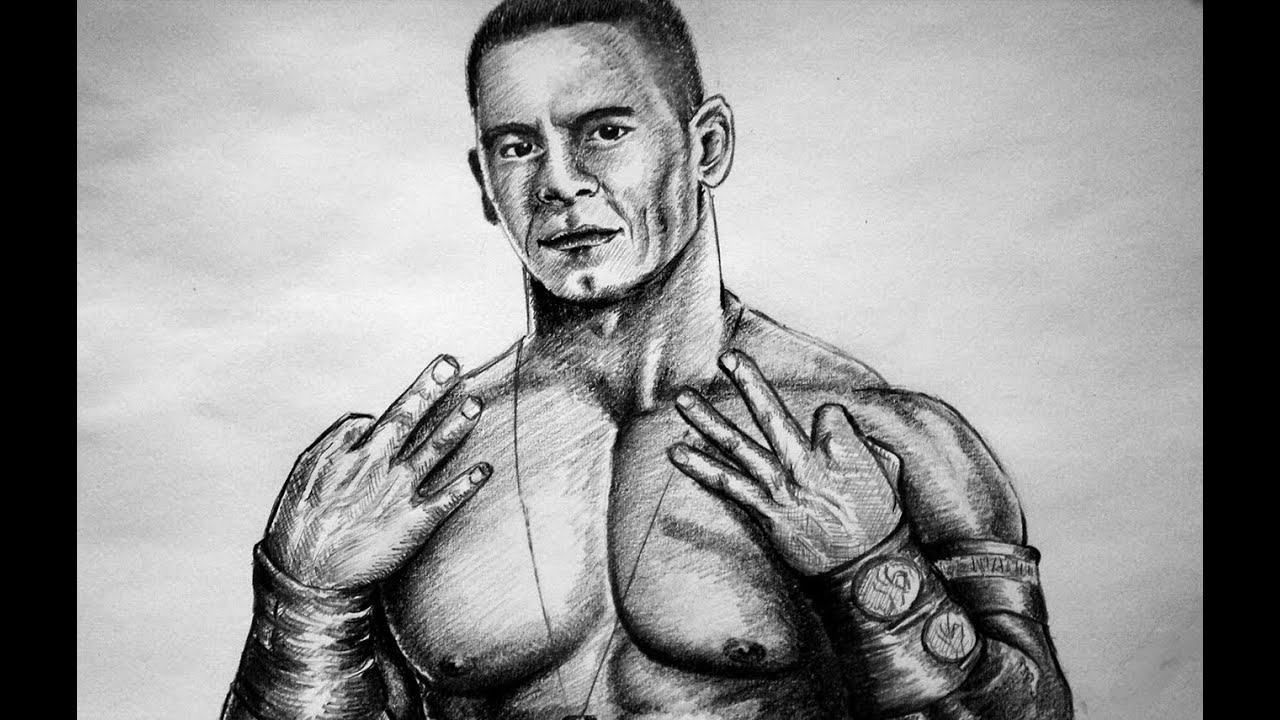 Uncategorized Wwe Drawing Pictures how to draw john cena wwe quick drawing youtube