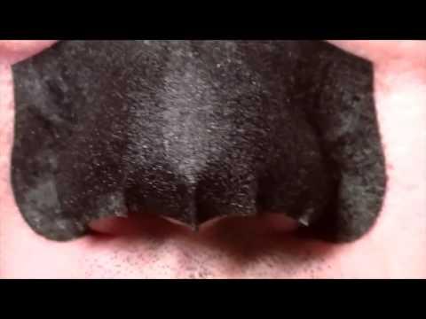 Удаление черных точек с носа с помощью полосок