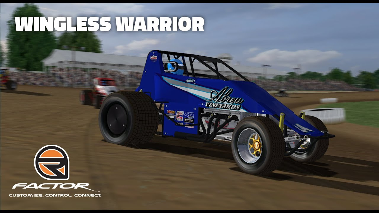 Rfactor Wingless Warrior Wingless Sprints Brownstown Youtube
