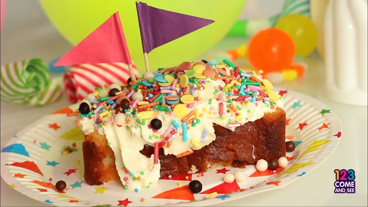Decorating With Sprinkles Decorating Delicious Kids Birthday Cake With Whipped Cream And