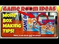 Game Room Ideas - More Box Making Tips (Mini Retail Boxes for Nintendo Video Games and More!)