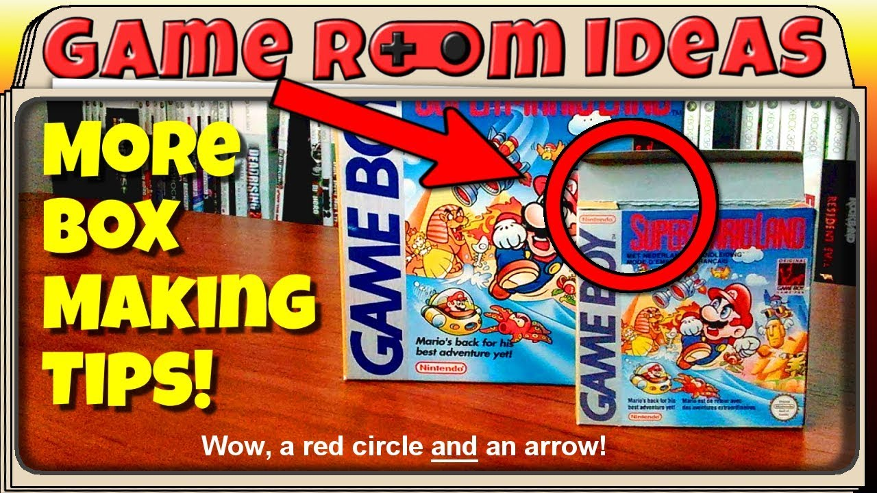 More Box Making Tips (Mini Retail Boxes for Nintendo Video Games and More!) | Game Room Ideas