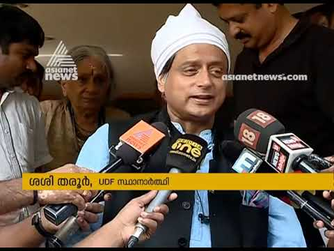 High polling rate will benefit UDF win says Shashi Tharoor
