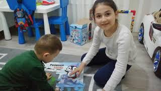 YUSUF MİRAÇ TV Yusuf miraç ve Zeynep puzzle yapıyor