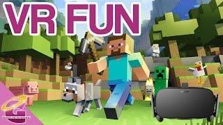 Adventures in VR: Minecraft, Hitman GO VR, Baskhead (Oculus rift gameplay)