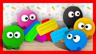 Разноцветный ПЛАСТИЛИН - Лепим пластилиновые Смешарики. Обучающее видео лепка