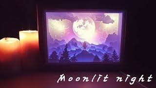 달이 빛나는 밤 3D 페이퍼 원목 무드등 [매주 이벤트…