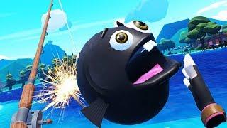 Exploding Bomb Fish! - Crazy Fishing Gameplay - VR HTC Vive Pro