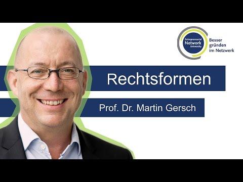 Rechtsformen - Prof. Dr. Martin Gersch