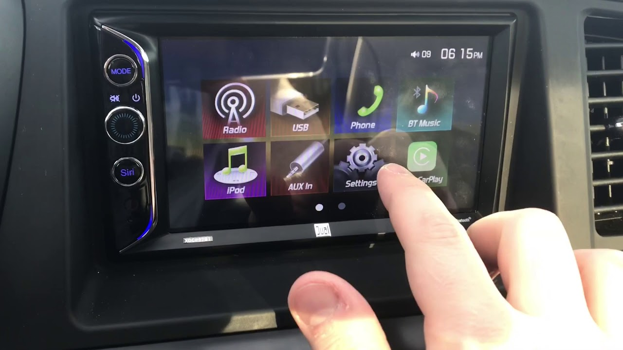 First Review Up Est Le Carplay Stereo On The Market Dual Brand Xdcp97bt Wow