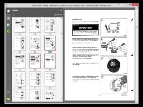 bobcat 843 series workshop, service, repair manual  bobcat wiring diagrams wiring diagram
