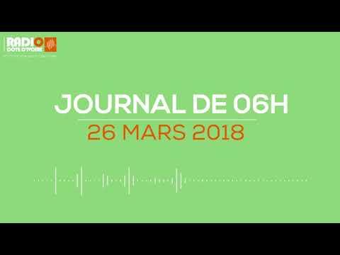 Le journal de 06H00 du 26 mars 2018 - Radio Côte d'Ivoire