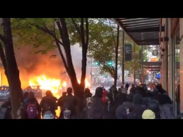WATCH: Violent protests in downtown Seattle Saturday after rally over George Floyd's death - KING 5