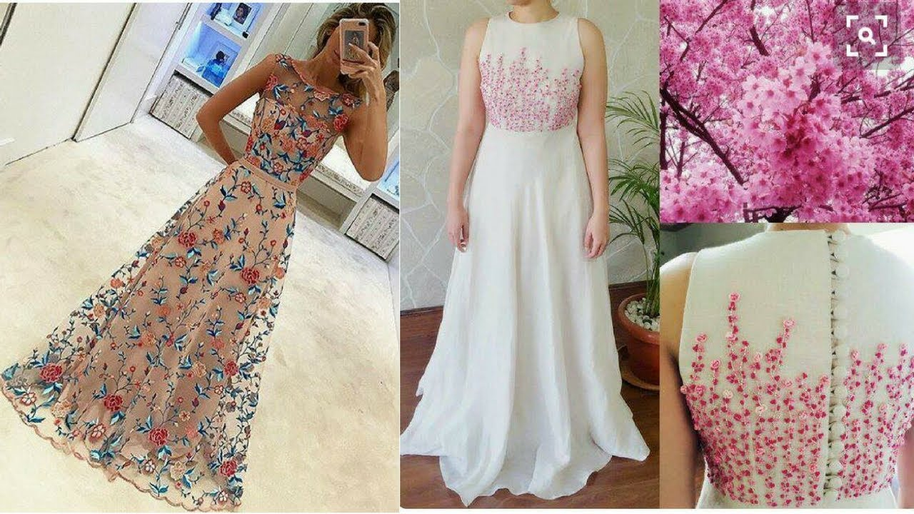 cc66bfe92301 Top 20 Long Floral Print Dresses in Multicolor    2017 - YouTube