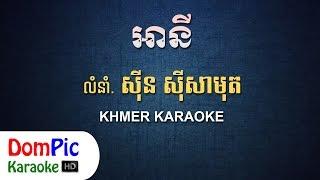 អានី ស៊ីន ស៊ីសាមុត ភ្លេងសុទ្ធ - A Ny Sin Sisamuth - DomPic Karaoke