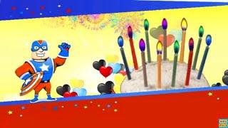 Captain America Happy Birthday Song |Nursery Rhymes songs for kids