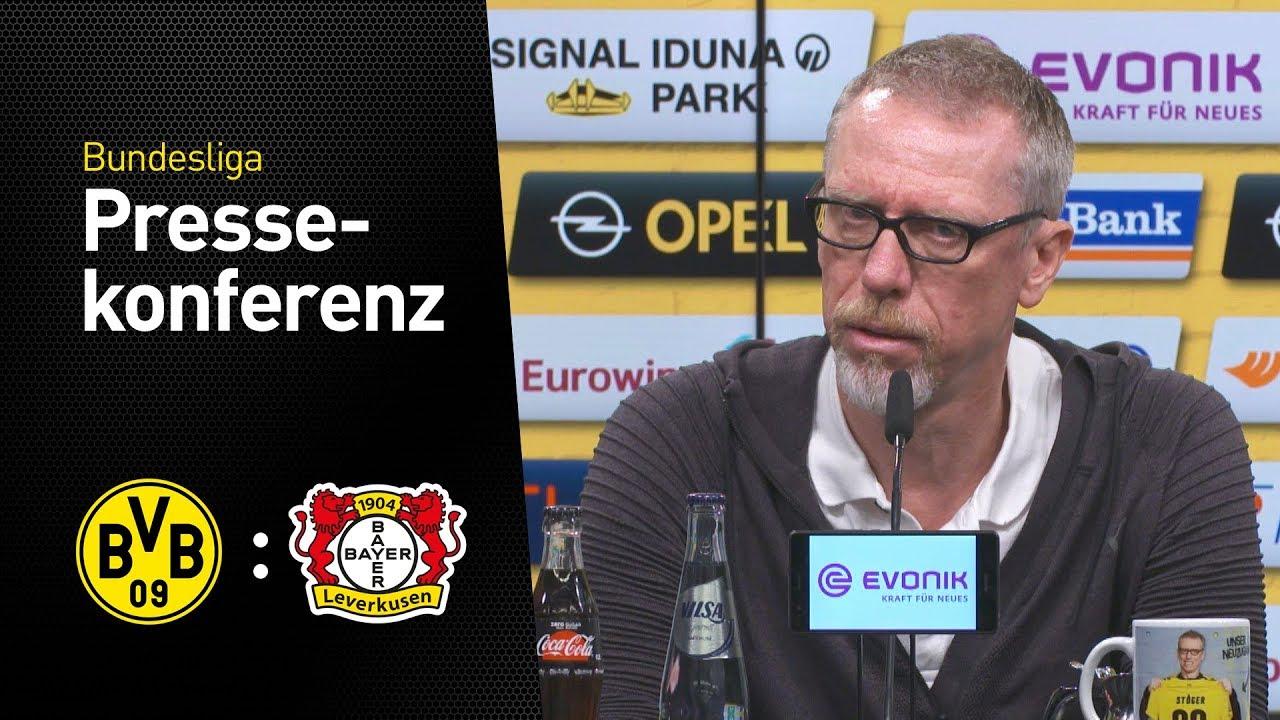 Beginnt Mario Götze? | Pressekonferenz mit Peter Stöger | BVB - Bayer 04 Leverkusen