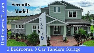 Model Home Tour  4076 sq ft  634990 Base Price  Winter Garden FL  Sanctuary at Twin Waters