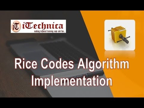 22.(B). Rice Codes Algorithm: Implementation with Example
