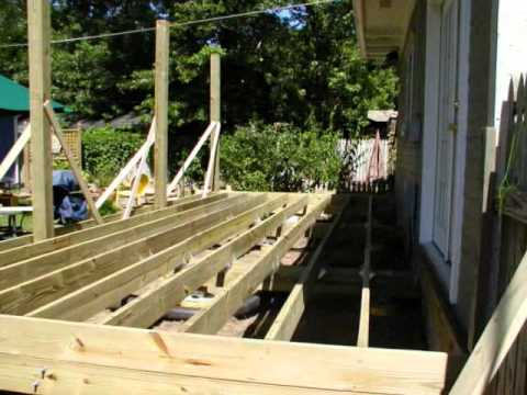 The New Deck (construction paused for vacation)