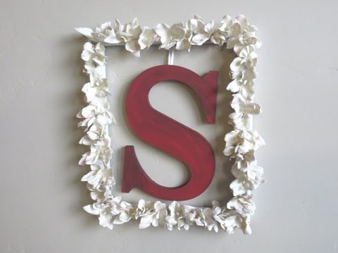 Diy flowers monogram picture frame wall art plaster of paris diy flowers monogram picture frame wall art plaster of paris solutioingenieria Gallery