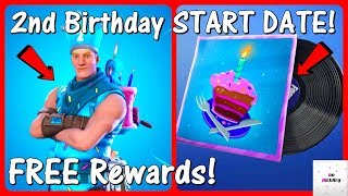 *NEW* 2nd Birthday Event START DATE! (Challenges & Rewards Release) | Fortnite