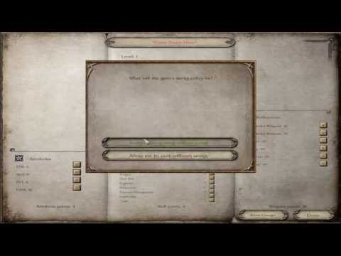 M&B Warband-A Clash Of Kings- #1 Character Creation Funtime!