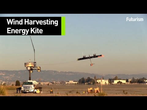 The kite that harvests the wind
